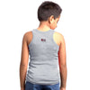 Sirtex Eazy Racer Boys Junior Gym Vest (Pack of 3) : Grey Melange, White & Maroon - RACER-BOY-9005