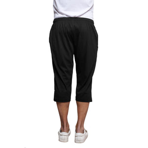 Sirtex Eazy Men's Cotton Blended Three Fourth Track Pant (Pack of 4) : Black, Navy, Light Grey & Dark Grey