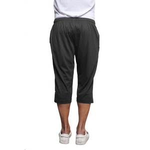 Sirtex Eazy Men's Cotton Blended Three Fourth Track Pant (Pack of 2) : Black & Dark Grey