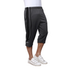 Sirtex Eazy Men's Cotton Blended Three Fourth Track Pant (Pack of 4) : Steel Grey, Navy, Light-Grey & Black