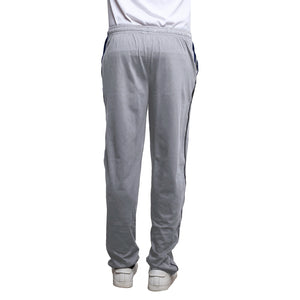 Sirtex Eazy Men's Cotton Blended Zipper Track Pants (Pack of 2) : Light Grey Melange & Black