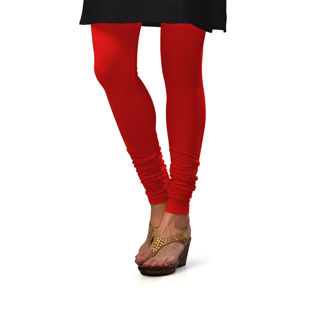 Sirtex Eazy Red Cotton Lycra Churidar Leggings