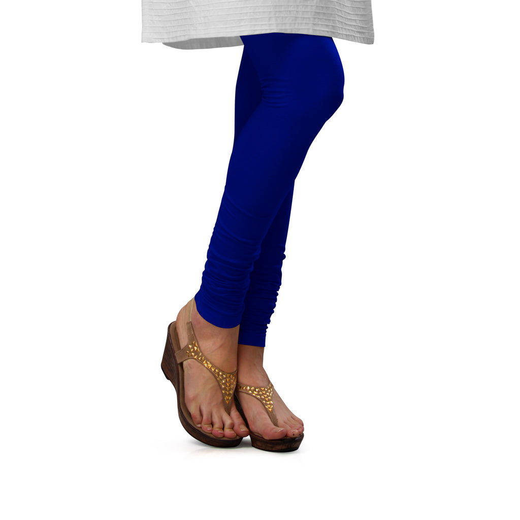 Sirtex Eazy Royal Blue Cotton Lycra Churidar Leggings