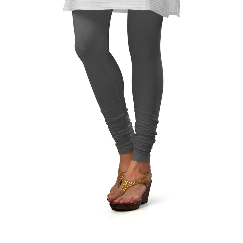 Sirtex Eazy Steel Grey Cotton Lycra Churidar Leggings