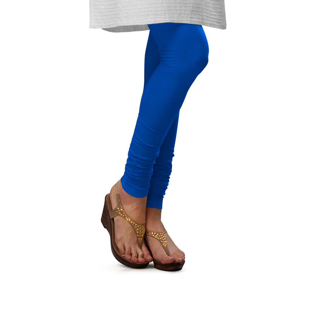 Sirtex Eazy T Blue Cotton Lycra Churidar Leggings