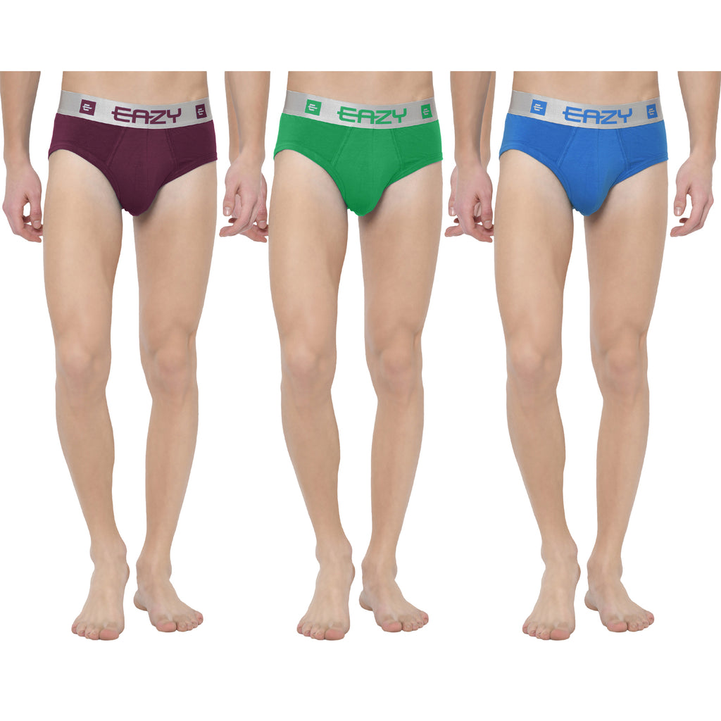 Eazy Silverline Low Rise Brief (Pack of 3)