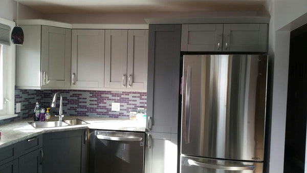 Jana's Remodel Story - A Kitchen Backsplash Perked Up With Purple