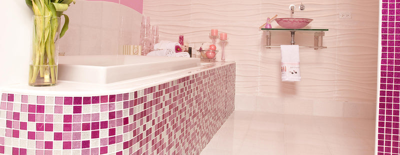 Tile Trend | A Bathroom Tile Design Any Girl Will Love
