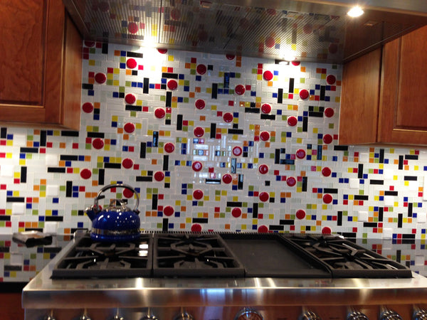 Tracy's Story | A Coonley Colorful Glass Tile Backsplash