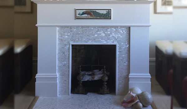 Mother Of Pearl Fireplace