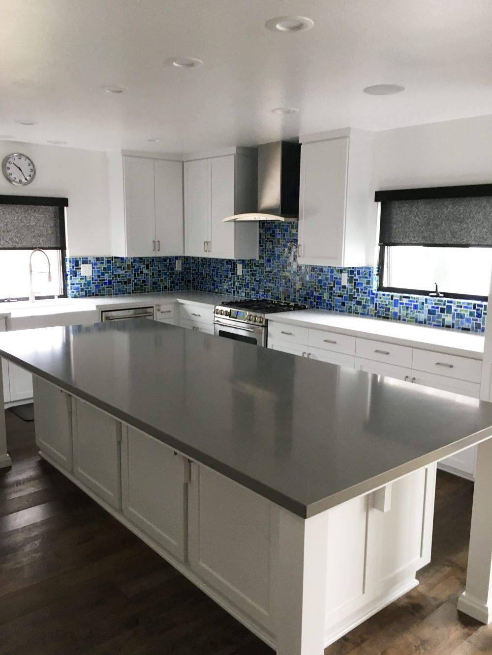 Tiffany inspired kitchen with beautiful greens and blues