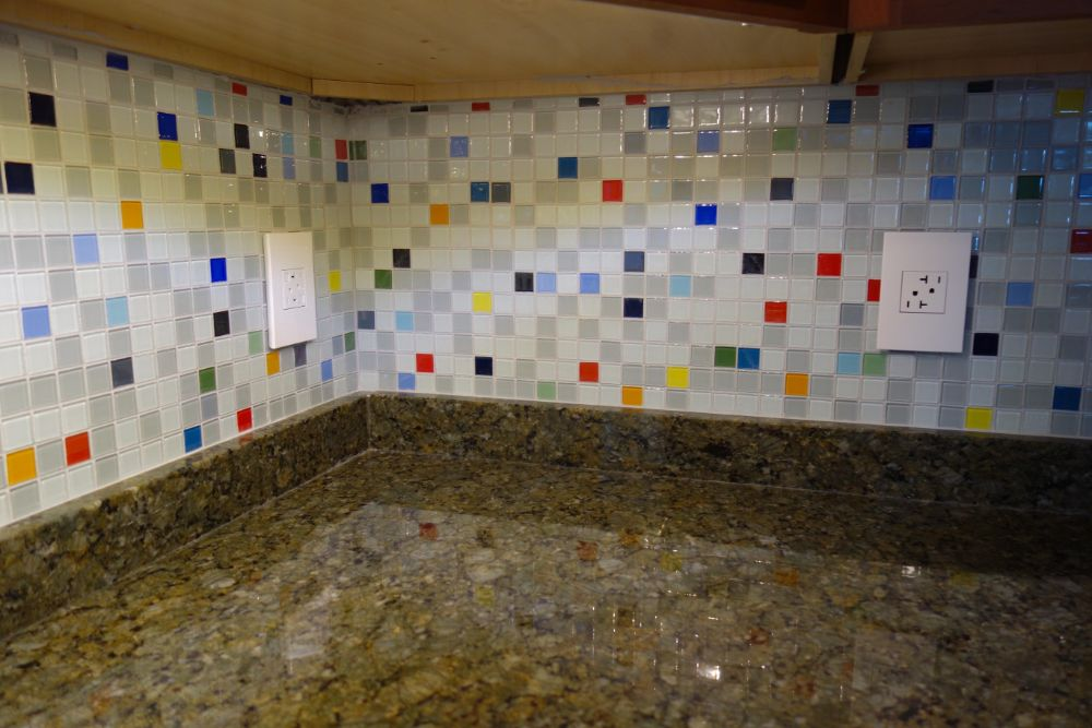 Bright and cheerful kitchen with colorful tile
