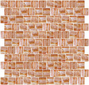 1 Inch Citrine Orange Textured Recycled Glass Tile Offset