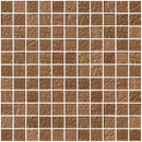 1 Inch Brown Slate Metallic Glass Tile
