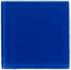 Sample of 2x2 Inch Blue Glass Tile Offset