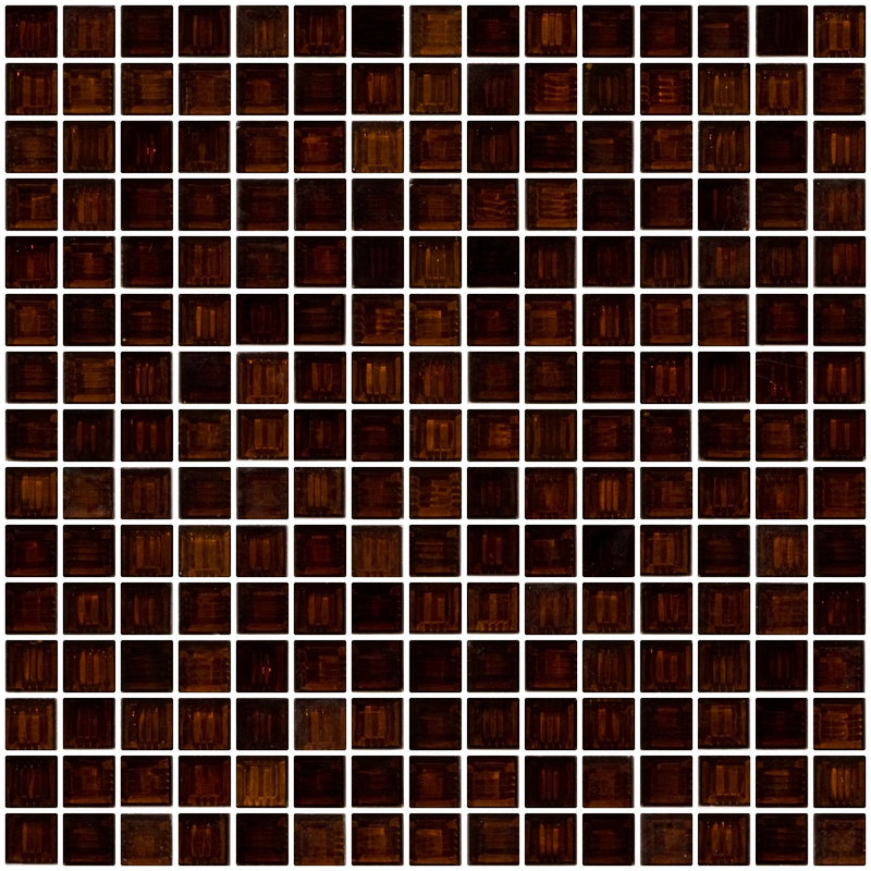 3/4 Inch Transparent Walnut Brown Glass Tile Super Sale