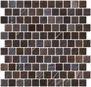 1 Inch Slate Gray with Bronze Brushstroke Recycled Glass Tile