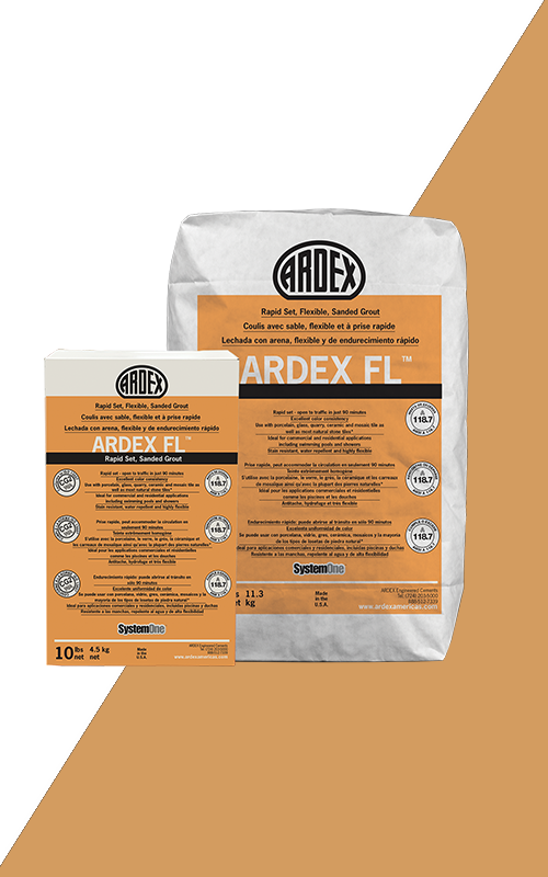 Ardex FL Summer Yellow Set, Flexible, Sanded Grout 25 lb Bag