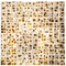 1 Inch Gold Metallic Glass Tile With Brown Cheetah Print