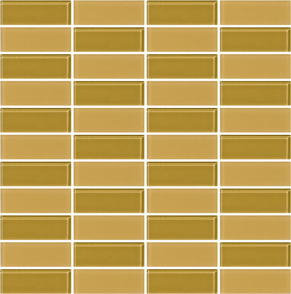 Tuxedo Honey Brown Mosaic Tile Design
