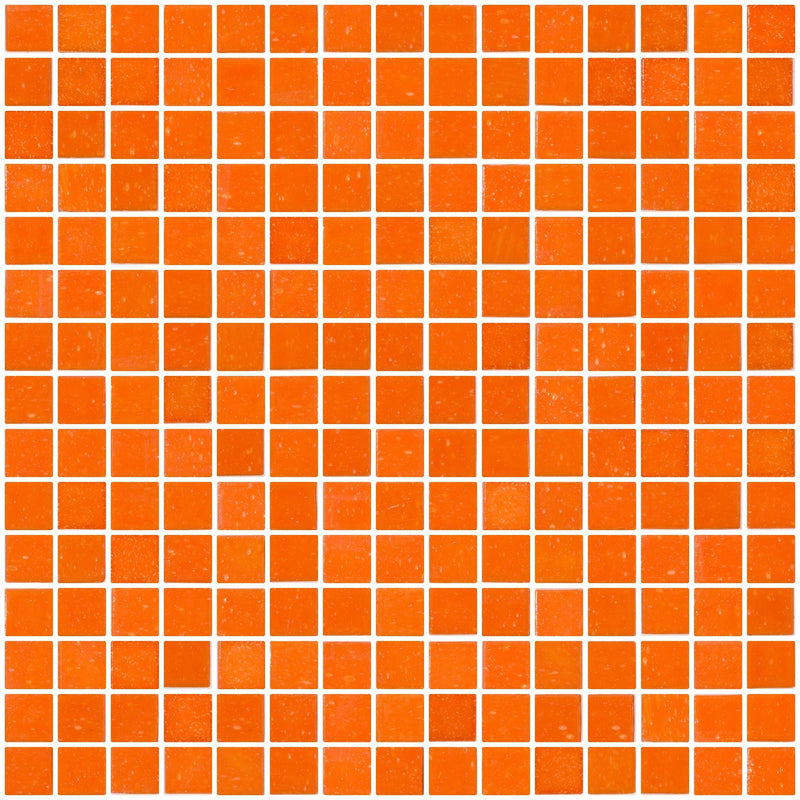 3/4 Inch Orange Glass Tile