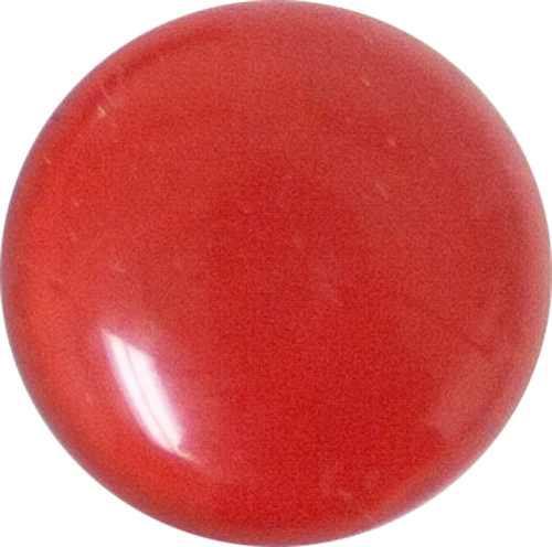 1 Inch Round Tomato Red Opaque Fused Glass Accent Tile