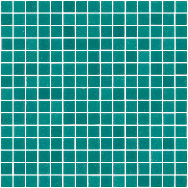 3/4 Inch Caribbean Aqua Blue Glass Tile