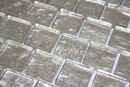 1 Inch Crushed Crystal Metallic Glass Tile Reset In Offset Layout