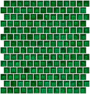 3/4 Inch Transparent Christmas Green Glass Tile Reset In Offset Layout