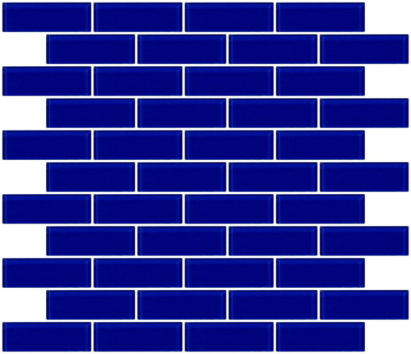 1x3 Inch Cobalt Blue Glass Subway Tile