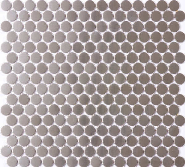 3/4 Inch Round Stainless Steel Tile