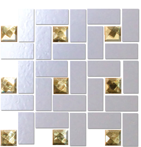 Quarter Sheet of LOOKING GLASS MIRROR AND GOLD DIAMOND BLING BLEND