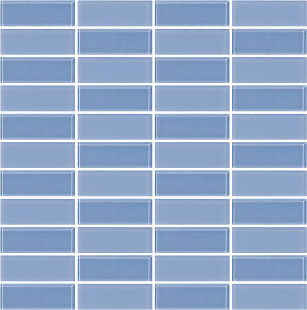Tuxedo Light Periwinkle Mosaic Tile Design