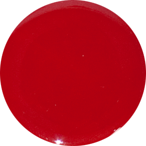 2 Inch Round Red Opaque Fused Glass Accent Tile