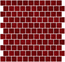 1 Inch Red Glitter Glass Tile Offset