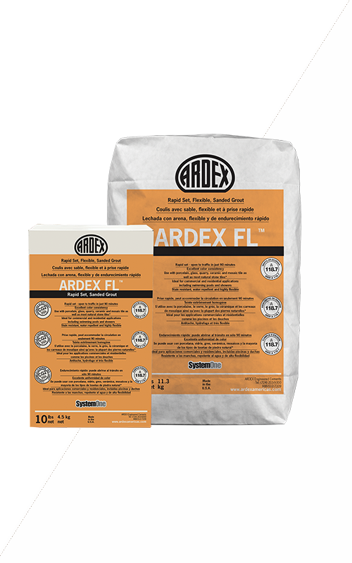Ardex FL Brilliant White Set, Flexible, Sanded Grout 25 lb Bag
