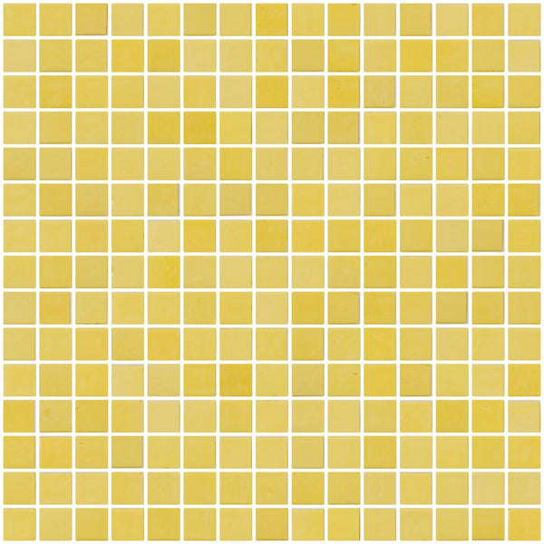 3/4 Inch Butter Yellow Glass Tile