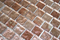 1 Inch Silver Taupe Metallic Glass Tile Reset In Offset Layout
