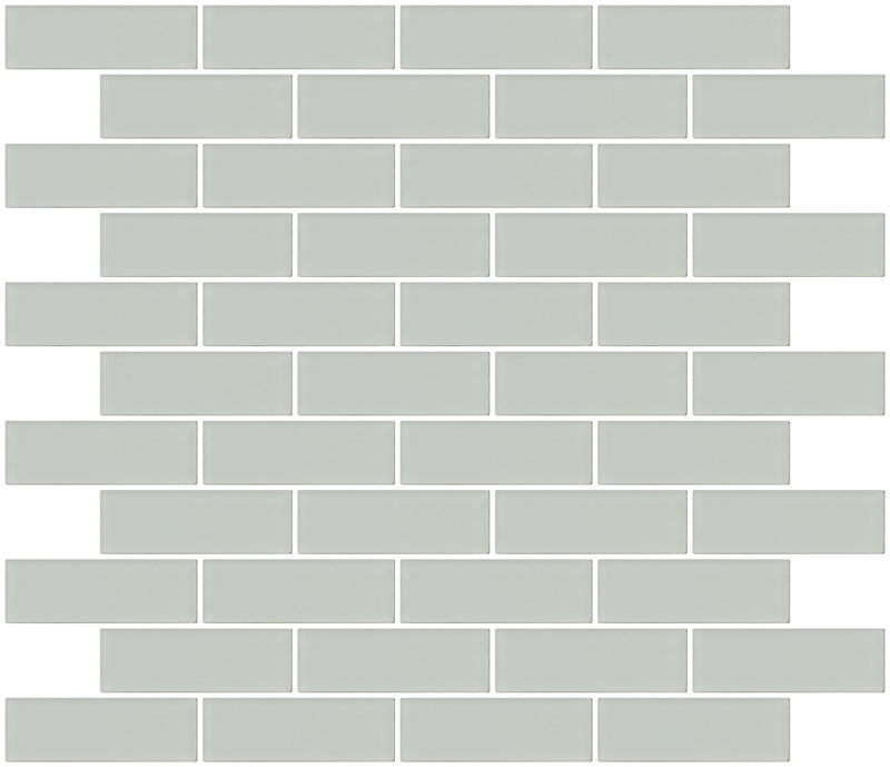 1x3 Inch Light Gray Frosted Glass Subway Tile