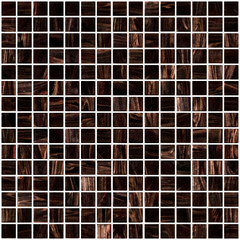 3/4 Inch Deep Merlot Red Gold Marbled Glass Tile