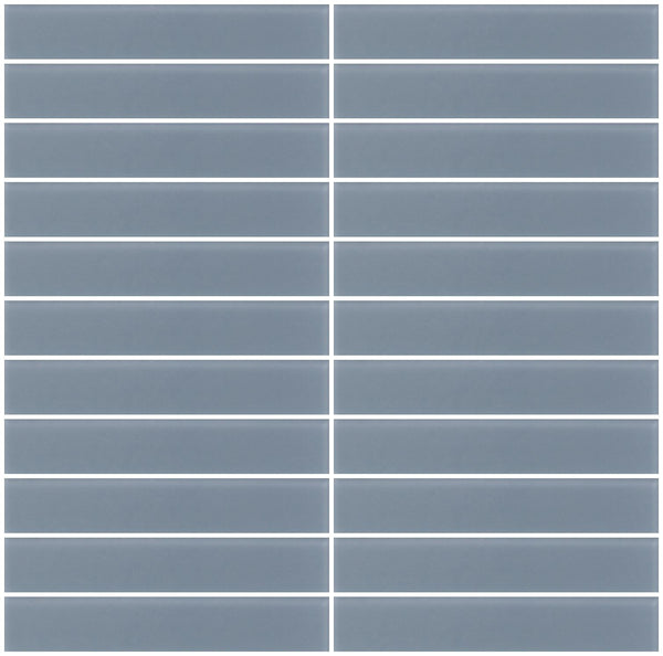 1x6 Inch Medium Gray Frosted Glass Subway Tile Super Sale