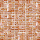 1 Inch Citrine Orange Textured Recycled Glass Tile
