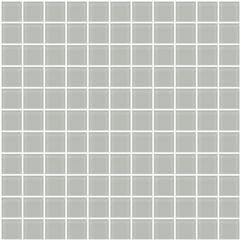 1 Inch Light Gray Frosted Glass Tile