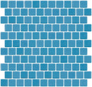 1 Inch Light Turquoise Blue Recycled Glass Tile Offset