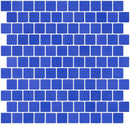 1 Inch Royal Blue Recycled Glass Tile Reset In Offset Layout