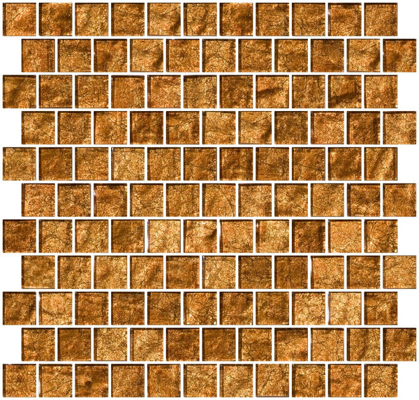 1 Inch Espresso Brown Satin Metallic Glass Tile Reset In Offset Layout Susan Jablon Mosaics
