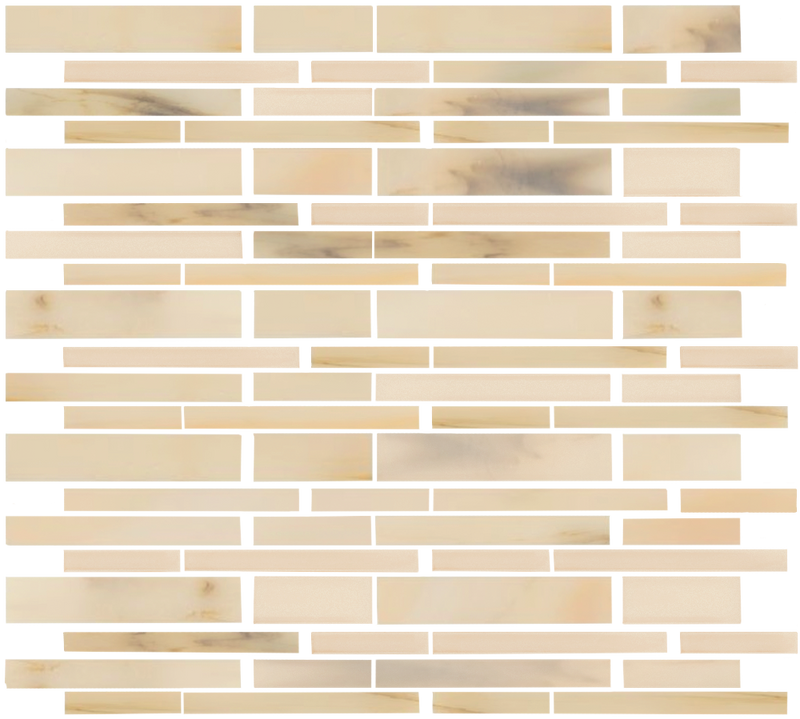 Travertine Hand Cut Stained Glass Tile