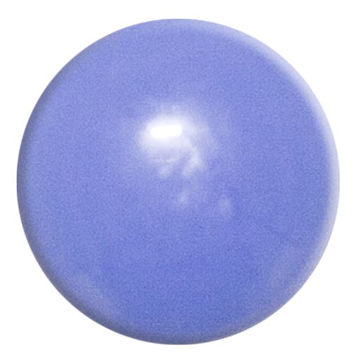 1-INCH ROUND Periwinkle opaque FUSED GLASS ACCENT TILE