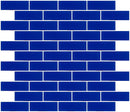 1x3 Inch Cobalt Blue Frosted Glass Subway Tile