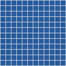 1 Inch Frosted Cobalt Blue Mirror Glass Tile